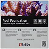Red Sea Reef Foundation Liquid Starter Kit, 3 by 250ml, 3-Pack