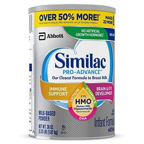 Similac Pro-Advance Non-GMO Infant Formula with Iron, with 2'-FL HMO, for Immune Support, Baby Formula, Powder, 36 oz, 3 Count (One-Month Supply) by Similac (Image #11)