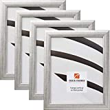 Craig Frames 23247944 10 x 13 Inch Picture Frame, Scratched Silver, Set of 4
