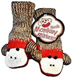 Sock Monkey Mittens Youth / Adult Fits Most