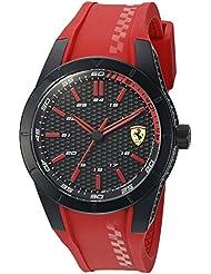 Ferrari Mens Redrev Quartz Red Casual Watch (Model: 0830299)