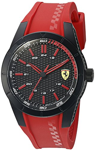 Ferrari Men's 'Redrev' Quartz Red Casual Watch (Model: 0830299)