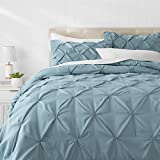 Blue King Size Comforter AmazonBasics Pinch Pleat Comforter Set - King, Spa Blue