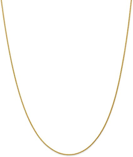 14k White Gold 0.8mm Baby Parisian Wheat Chain Necklace 16-24
