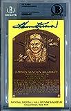 Harmon Killebrew Autographed HOF Plaque Postcard Minnesota Twins Beckett BAS #9889497