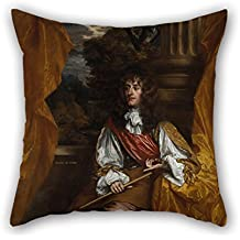 Oil Painting Sir Peter Lely - James VII And II, When Duke Of York, 1633 ? 1701 Cushion Covers Best For Couch Lover Son Deck Chair Lounge Home Office 20 X 20 Inches / 50 By 50 Cm(2 Sides)