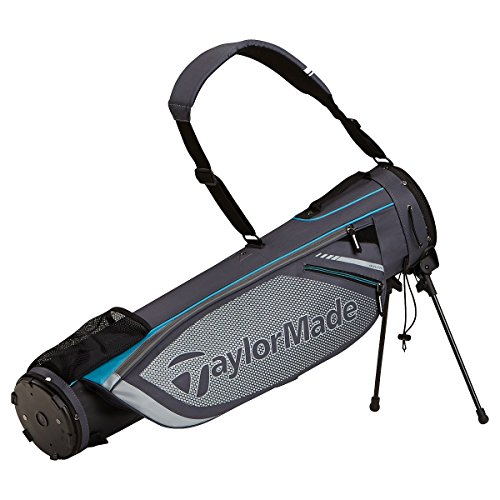 TaylorMade Quiver Stand Bag, Gray/Aqua