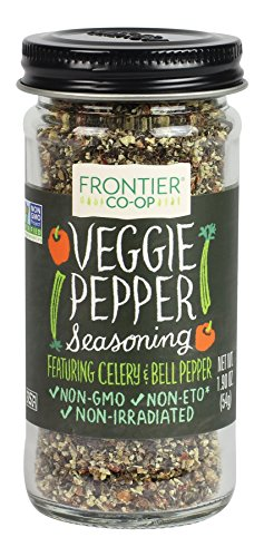 (Frontier Seasoning Blends Salt-free Veggie Pepper, 1.9-Ounce Bottle)
