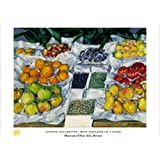 Posters: Gustave Caillebotte Poster Art Print - Fruit Displayed On A Stand (32 x 24 inches)