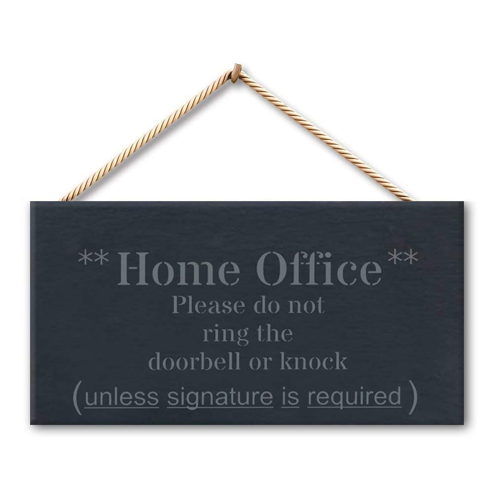 """Tamengi Home Office Pleae Do Not Ring The Door Bell Or Knock Rustic Wood Wall Art Home Family Decoration Design Plank Plaque Sign 5""""X10"""""""