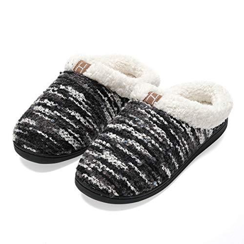 Casa Pantofole Eu 45 Nero Antiscivolo Uomo In Da 44 Cotone Scarpe leggero Uomo E Per Casa Fodera Confortevole Ultra U6rxUAB