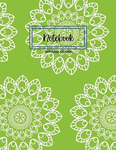 Notebook: Dot Grid Notebook/Journal: Lime Mandala - Soft Cover 8.5 x 11 inches - 120 pages (60 sheets)