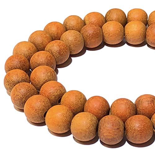 [ABCgems] Essential Oil Diffuser Papaya Sibucao Hardwood AKA Orange Sibucao (Exquisite Wood Grain) Tiny 6mm Matte Finished Round Wood Beads for Beading & Jewelry Making (No Wax)