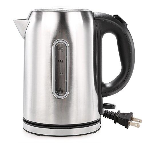 MeyKey Electric  Tea Kettle ,Rapid Boil 1000W Stainless Steel Water Kettle ,1.7 Liter