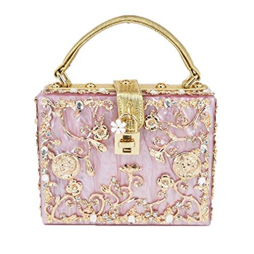 amp;OS Party Ladies Clutch Evening Pink Prom Women Bag Handbag evening ZJ Shoulder Purse Bag bag Zx1dw8fqW