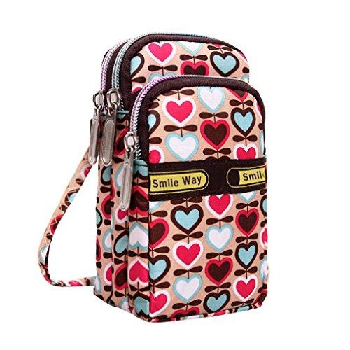Clearance! Multifunction Cell Phone Wrist Purse Crossbody Shoulder Bag Wallet Wristlet Handbag Outdoor Sports (H)
