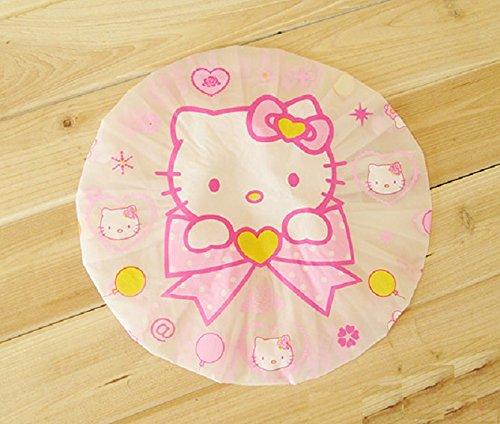 CJB Hello Kitty Bath Shower Caps Hats Bowknot (US Seller) ()
