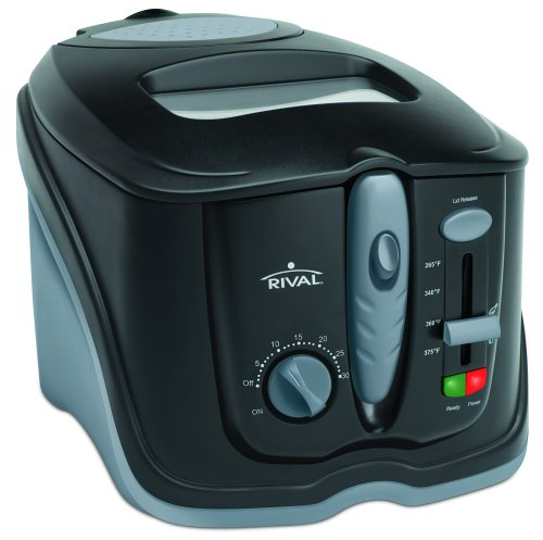Rival CZF630 3-Liter Cool Touch Cool Zone Deep Fryer, Black