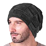YIZCO Slouchy Beanie for Men Winter Hats for Guys Cool Beanies Mens Lined Knit Warm Thick Skully Stocking Binie Hat
