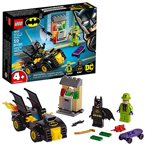 LEGO DC Batman: Batman vs. The Riddler Robbery 76137 Building Kit, New 2019 (59 Pieces) (Lego Minifigure Kid Flash)