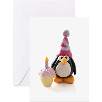 Amazon Cafepress Birthday Penguin Greeting Card Note Card