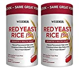 Weider Red Yeast Rice Plus 2-Pack with Phytosterols 1200 mg per 2 Tablets (240 Tablets X 2) For Sale