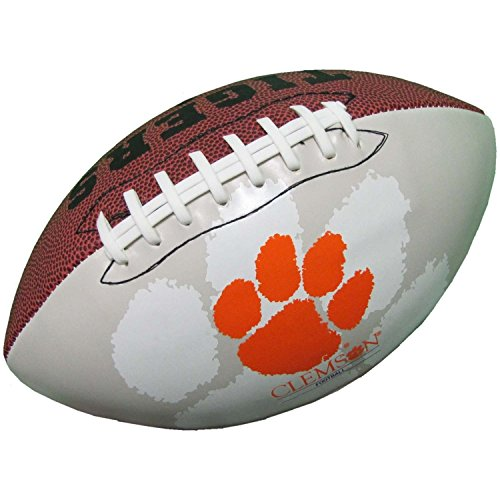 Clemson Tigers Official Size Synthetic Leather Autograph Football