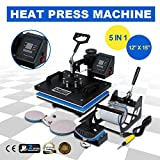 Best T-shirt Heat Presses - 5 in 1 Heat Press Machine 12x15'' T-Shirt Review