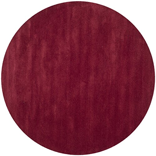 Red 4' Round Area Rug - 8