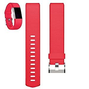 Replacement Bands for Fitbit Charge 2, Fitbit Charge2 Wristbands,Large,Red