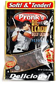 Pronks Big League Beef Jerky, Pepper, 3.5-Ounces Bags (Pack of 4)