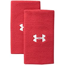 "Under Armour 6"" Performance Wristband, Red (600)/White, One Size"