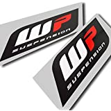 ! WP Suspension Gráficos Pegatinas, Logo de Adhesivo, Tamaño Grande, 2Unidades (Estilo 2)