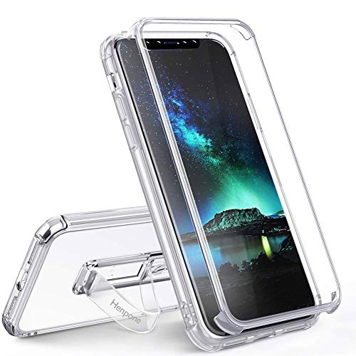 - Henpone Clear iPhone X Case, iPhone Xs Case,Transparent Soft TPU Phone Cover with Strap Kickstand Ring Holder Hybrid Drop Protection Cases for Apple iPhone X/XS (5.8) - Crystal Clear