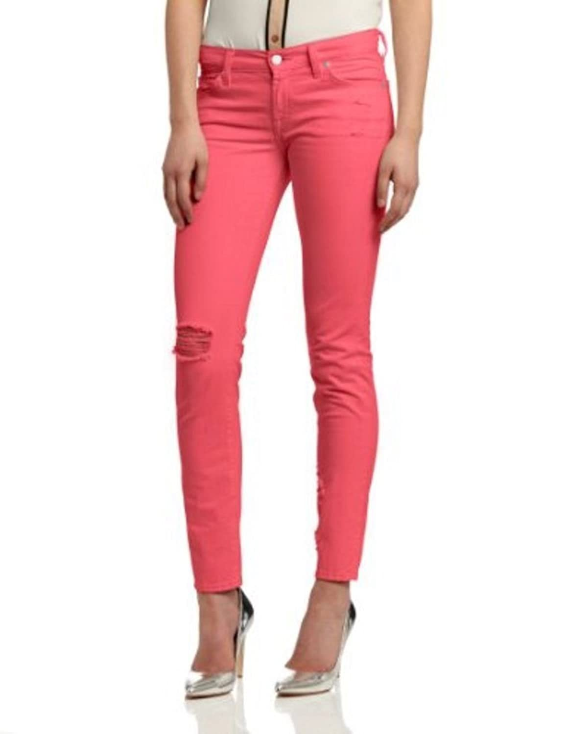 7 for All Mankind Destroyed Jeans, Peony, 25