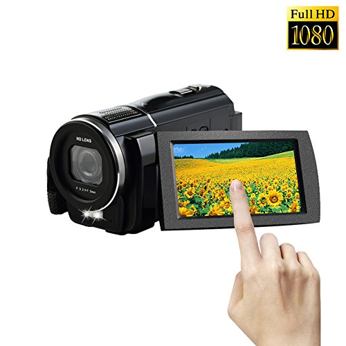 Camcorder 1080p Full HD Digital Video Camera Close up 24.0 M