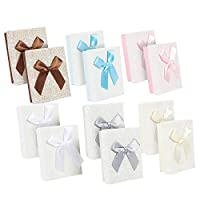 Juvale 12-Piece Gift Box Set - Bow Jewelry Box for Anniversaries, Weddings, Birthday, 3.6 x 1.1 x 2.7 Inches