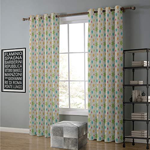 (Blackout Curtain for Living Room 96 by 84 Inch Safari,Silhouette of Savannah Giraffe Deer and Trees Wild African Safari Region Theme,Grey White)