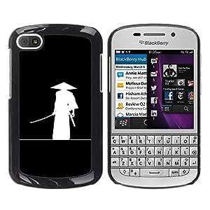 Be Good Phone Accessory // Dura Cáscara cubierta Protectora Caso Carcasa Funda de Protección para BlackBerry Q10 // Minimalist Japanese Samurai Katana Warrior