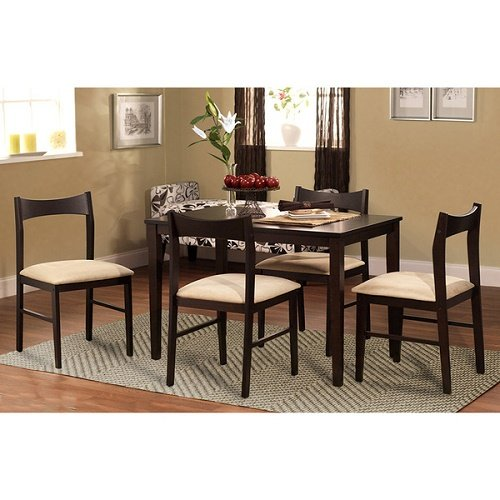 Simple Living 5-piece Transitional Dining Set Brown Table Chair