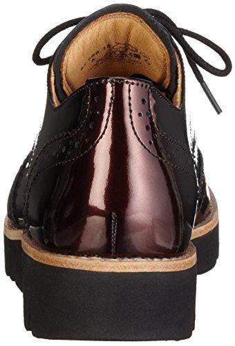 Gabor Comfort Sport, Zapatos de Cordones Derby para Mujer Rojo (Dark-Vino S.S/C)