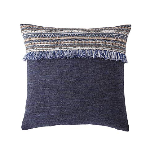 - Morgan Home Decorative Fringe Throw Pillow Cushions Cover for Sofa Couch or Bed - 18 x 18 inches, 1 PC