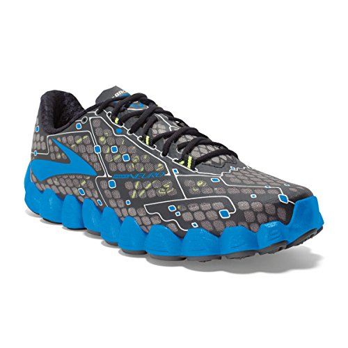 Brooks  Men's Neuro Metallic Charcoal/Electric Blue Lemonade/Nightlife 12 D US