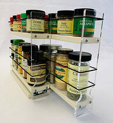 Vertical Spice – 22×1.5×11 DC – Spice Rack for Cabinet Storage – 2 Drawers with 2 Shelves – Easy to Install