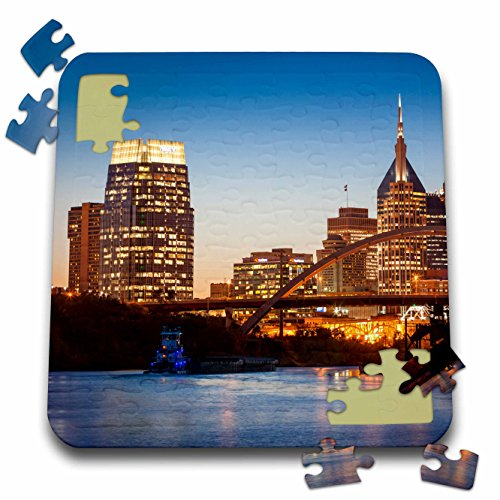 Danita Delimont   Bridges   Twilight Over Nashville And The Cumberland River  Tennessee  Usa    10X10 Inch Puzzle  Pzl 210337 2