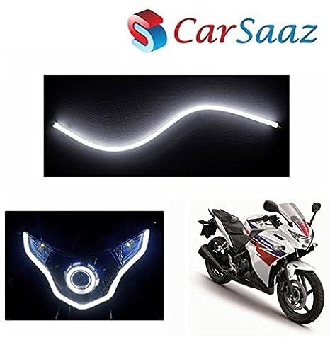 Carsaaz Flexible 30cm Bike Headlight Neon Lighttube For Honda Cbr