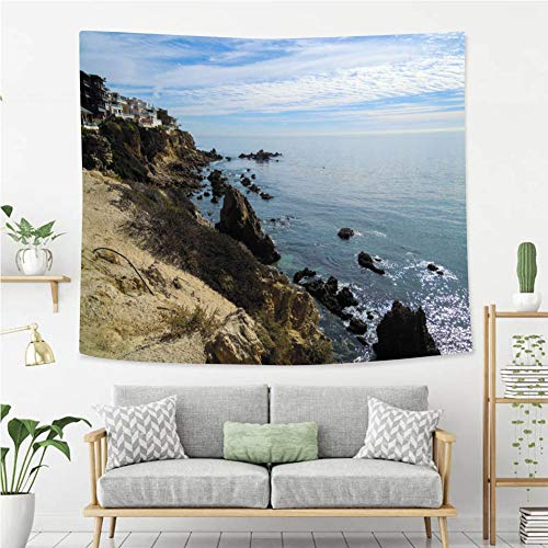 (BEIVIVI Creative Custom Tapestry New Port Beach California United States Stock Image Wall Tapestry with Art Nature Home Decorations)