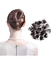 40 Pcs Invisible Hair Nets for Buns with Elastic Edge, Nylon Fine Mesh Hair Net Cap Holder for Ballet Nurse Chef (Brown)