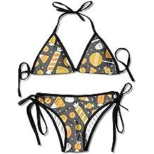 Most Fashion Maker Women ShapePattern Green Seamless Printing Summer Sexy Two Pieces Swim Wear