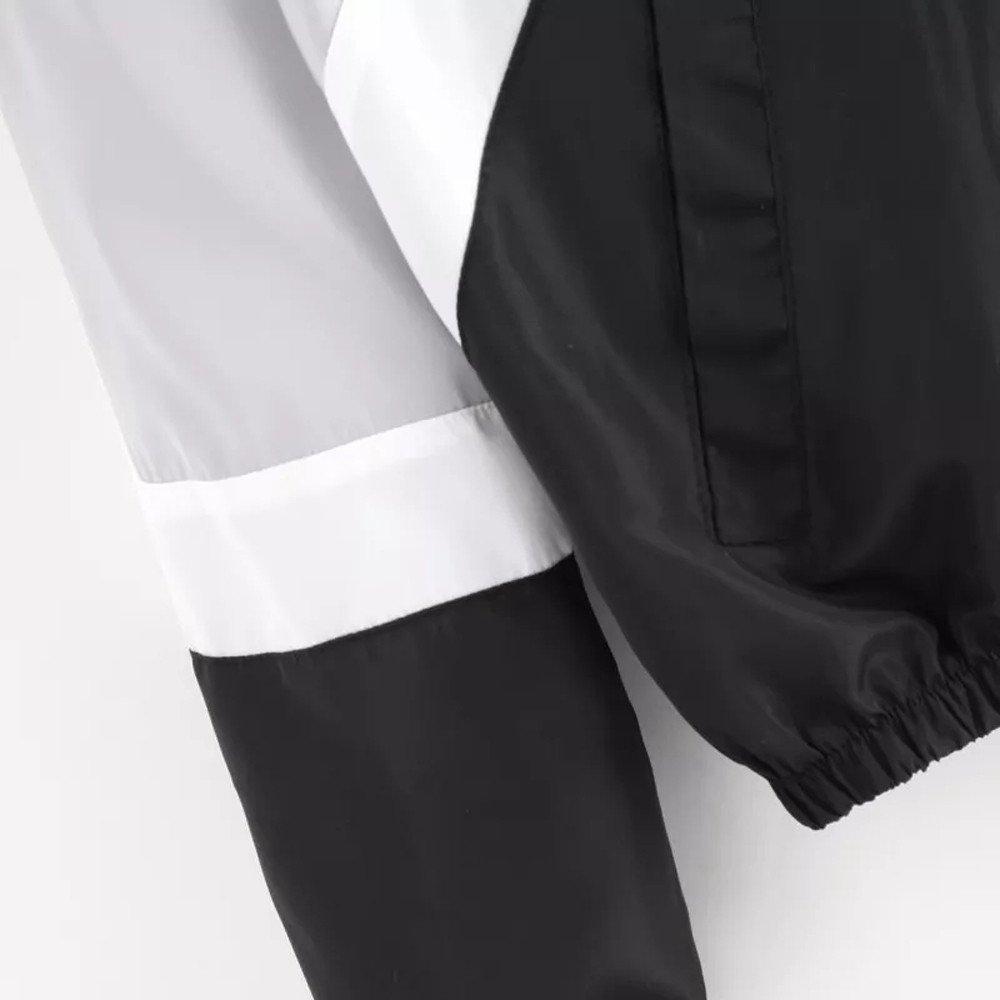 POTO Windbreakers Womens Color Block Hooded Zip Up Drawstring Windbreaker Windproof Sport Jackets Coat Outwear Women/'s Color Block Hooded Zip Up Drawstring Windbreaker Windproof Sport Jackets Coat Outwear